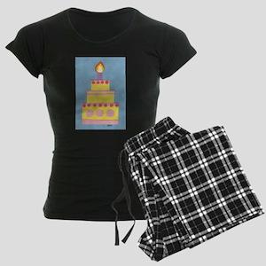 Mini Yellow Cake Women's Dark Pajamas