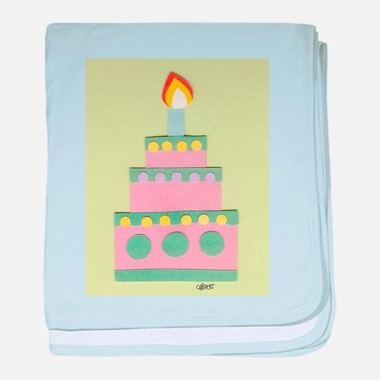 Mini Pink Cake baby blanket