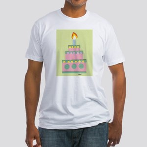 Mini Pink Cake Fitted T-Shirt
