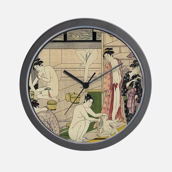 Cute Ukiyoe Wall Clock