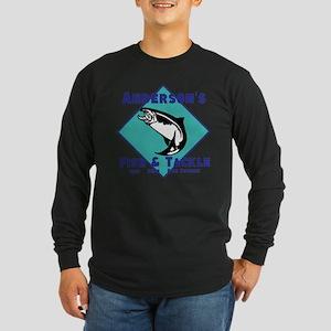 Personalized fishing Long Sleeve Dark T-Shirt