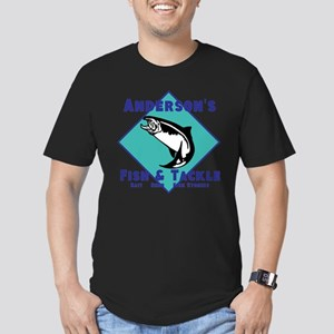Personalized fishing Men's Fitted T-Shirt (dark)