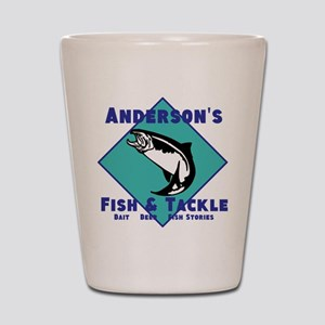 Personalized fishing Shot Glass