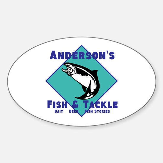 Personalized fishing Sticker (Oval)