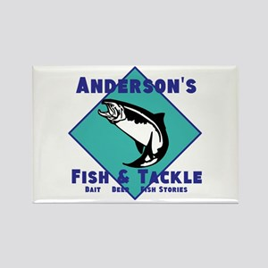 Personalized fishing Rectangle Magnet