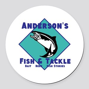 Personalized fishing Round Car Magnet