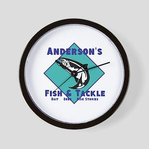 Personalized fishing Wall Clock