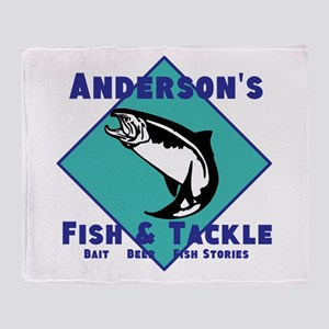 Personalized fishing Throw Blanket