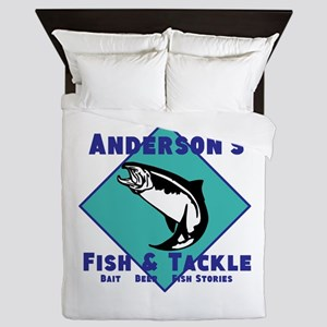 Personalized fishing Queen Duvet