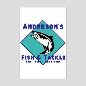 Personalized fishing Mini Poster Print