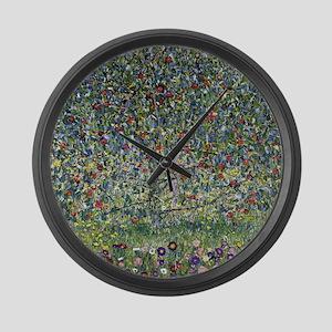 Gustav Klimt Apple Tree Large Wall Clock