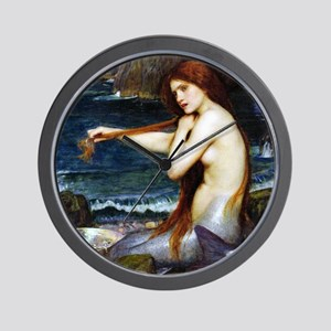 John William Waterhouse Mermaid Wall Clock