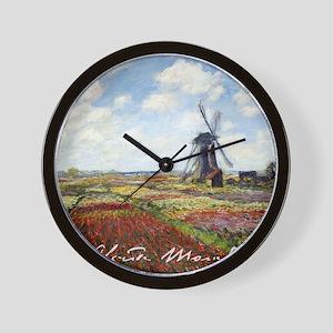 Monet A Field of Tulips Wall Clock