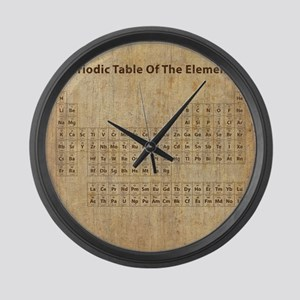 Vintage Periodic Table Large Wall Clock