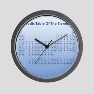 Blue Periodic Table Wall Clock