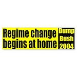 Regime Change yellow/black bumpersticker