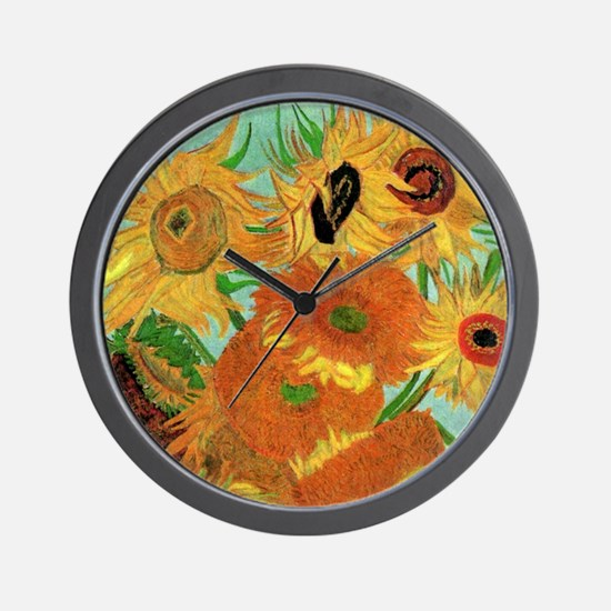 Van Gogh Twelve Sunflowers Wall Clock