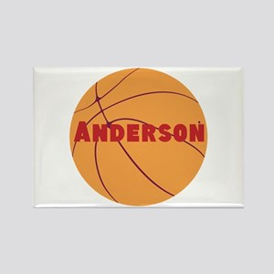 Personalized Basketball. Rectangle Magnet