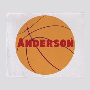 Personalized Basketball. Throw Blanket