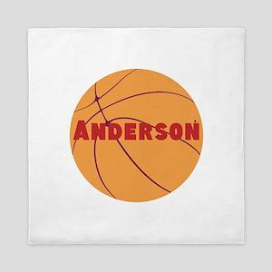 Personalized Basketball. Queen Duvet