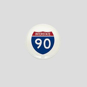 I-90 Interstate Hwy Mini Button