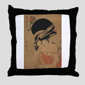 Courtesan, head-and-shoulders portrait - Utamaro K