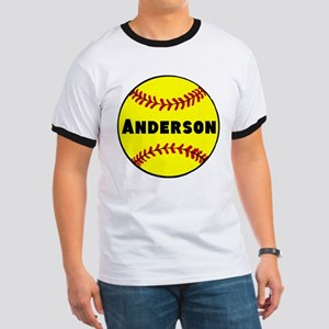 Personalized Softball Ringer T