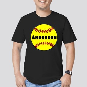 Personalized Softball Men's Fitted T-Shirt (dark)