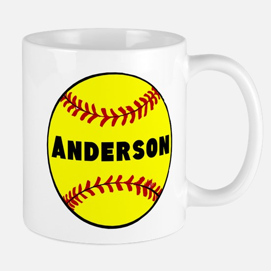 Personalized Softball Mug