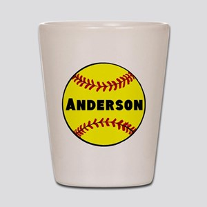 Personalized Softball Shot Glass