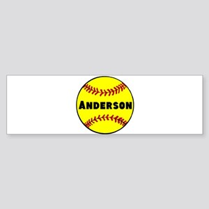 Personalized Softball Sticker (Bumper)