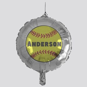 Personalized Softball Mylar Balloon