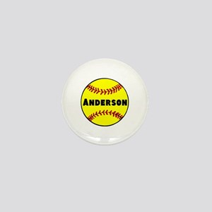 Personalized Softball Mini Button