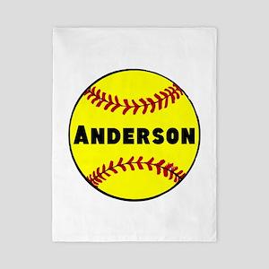 Personalized Softball Twin Duvet