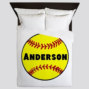 Personalized Softball Queen Duvet