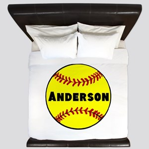Personalized Softball King Duvet