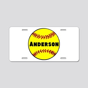 Personalized Softball Aluminum License Plate