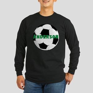 Personalized Soccer Long Sleeve Dark T-Shirt
