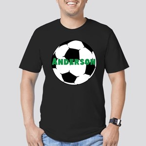 Personalized Soccer Men's Fitted T-Shirt (dark)