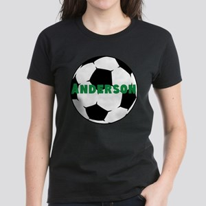 Personalized Soccer Women's Dark T-Shirt
