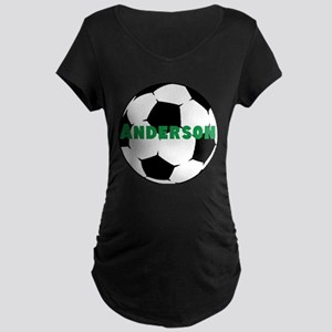 Personalized Soccer Maternity Dark T-Shirt