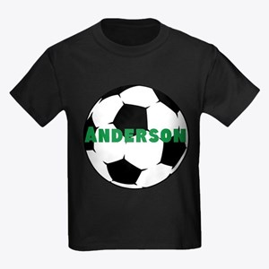 Personalized Soccer Kids Dark T-Shirt
