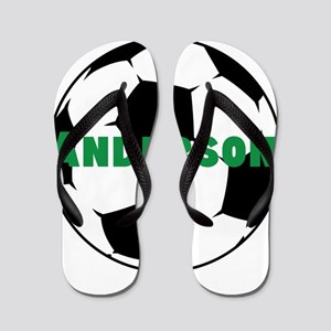 Personalized Soccer Flip Flops