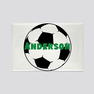 Personalized Soccer Rectangle Magnet