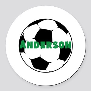 Personalized Soccer Round Car Magnet