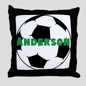 Personalized Soccer Throw Pillow