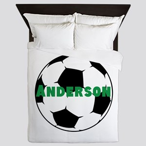 Personalized Soccer Queen Duvet