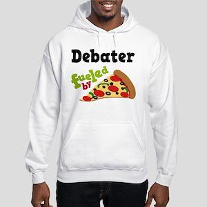 Debater Funny Pizza Hooded Sweatshirt