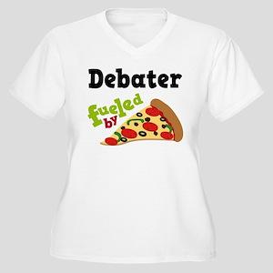 Debater Funny Pizza Women's Plus Size V-Neck T-Shi