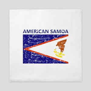 Flag of American Samoa Queen Duvet